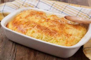 Картофельная запеканка с мраморным сыром