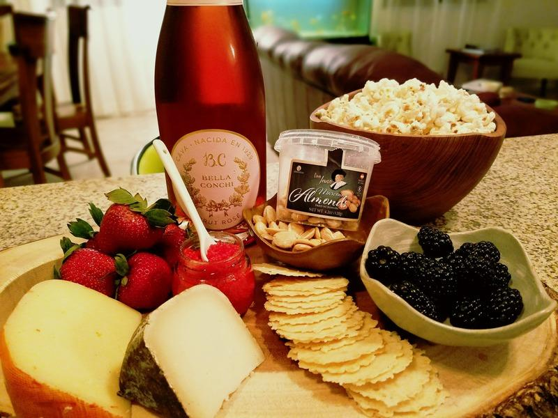 сыр и шампанское